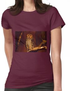 Owl Wisdom Womens Fitted T-Shirt