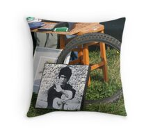 """second hand"" hero Throw Pillow"