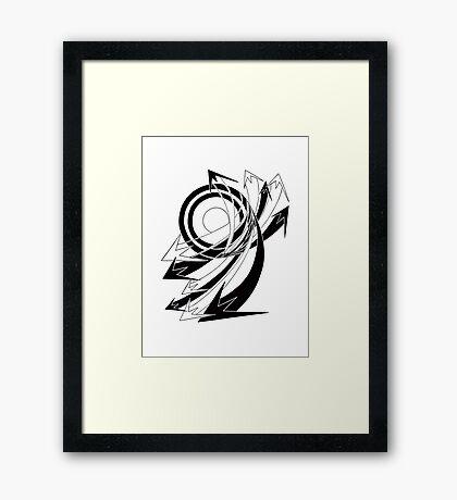 Arrows 01 - Curves Framed Print