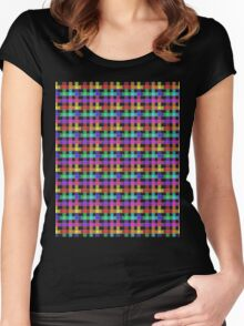 Rainbow Plaid  Women's Fitted Scoop T-Shirt