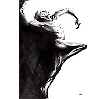 Shadowtwister dancer - conté drawing Photographic Print