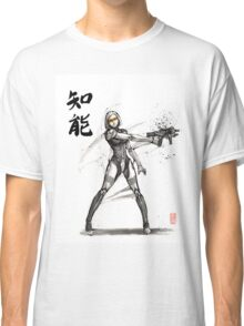 EDI from Mass Effect Universe sumi and watercolor style Classic T-Shirt