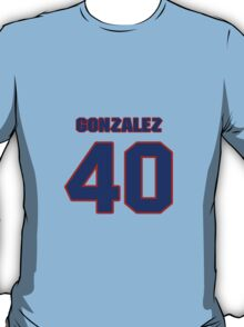National baseball player Alberto Gonzalez jersey 40 T-Shirt
