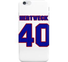 National baseball player Neal Hertweck jersey 40 iPhone Case/Skin
