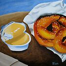 Soft Pretzels with Cheese Dip by Pamela Burger