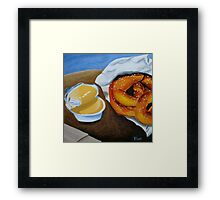 Soft Pretzels with Cheese Dip Framed Print