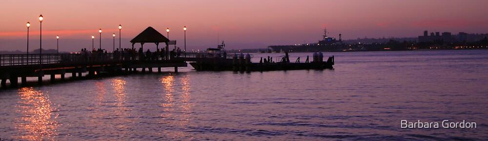 Ferry Pier Sunset by Barbara Gordon