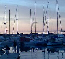 yachts at dusk by carolynb