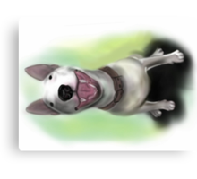 Lola English Bull Terrier Painting Canvas Print