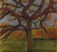 Peace Tree pastel drawing by Melissa Goza