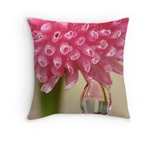 Morning Rain Drop Throw Pillow