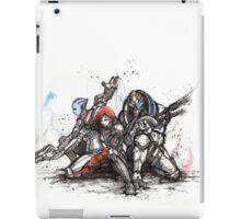 Shepard, Garrus and Liara trio sumi and watercolor style iPad Case/Skin