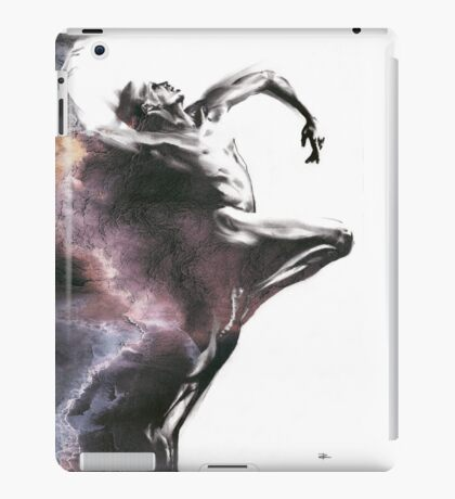 Shadowtwister dancer  - textured conté drawing iPad Case/Skin