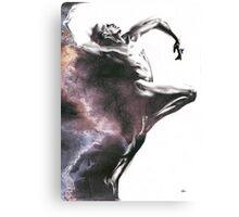 Shadowtwister dancer  - textured conté drawing Canvas Print