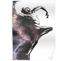 Shadowtwister dancer  - textured conté drawing Poster