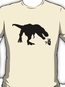 Jurassic Park T-rex Eats Man on Toilet Funny T-Shirt