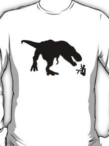 Jurassic Park T-rex Eats Man on Toilet Funny T-Shirt