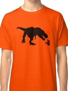 Jurassic Park T-rex Eats Man on Toilet Funny Classic T-Shirt