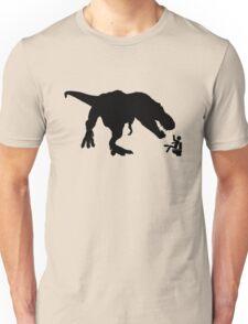 Jurassic Park T-rex Eats Man on Toilet Funny Unisex T-Shirt