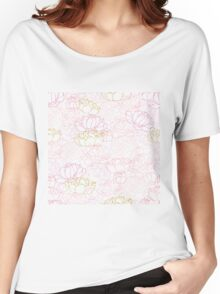 Peonies in pink and purple with a touch of gold Women's Relaxed Fit T-Shirt