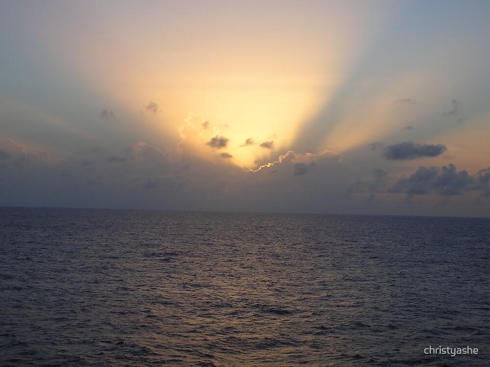 Cruise Ship Sunrise II by christyashe