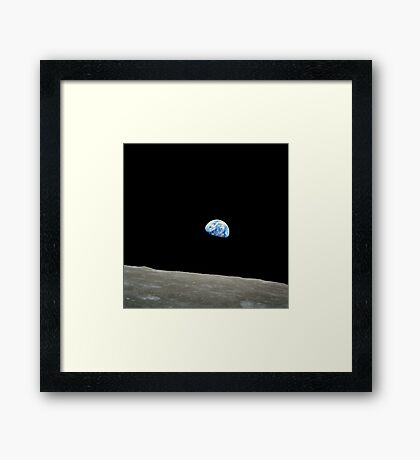 Earthrise from Apollo 8, 1968 Framed Print