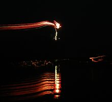 Firework on the water 3 by oznoid