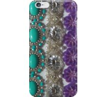 Vintage Bling, Silver, Turquoise, Pearl and Purple iPhone Case/Skin
