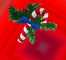 Christmas Candy Cane by Amber Elen-Forbat
