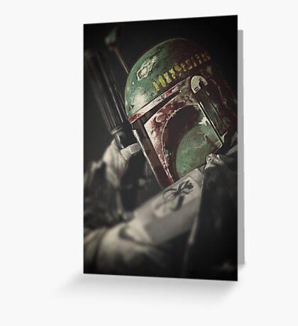Star Wars bounty hunter Greeting Card