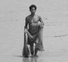 Fisherman Cambodia by chrisryan
