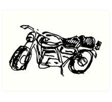 A Motorcycle Art Print