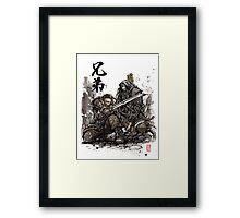 Kili and Fili from the Hobbit sumi ink and watercolor Framed Print