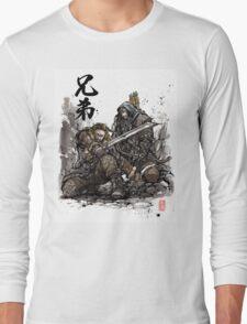 Kili and Fili from the Hobbit sumi ink and watercolor Long Sleeve T-Shirt