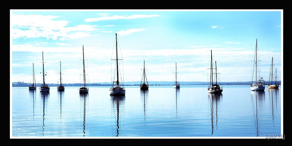 boats on the bay by sparkly
