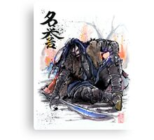 Thorin from the Hobbit sumi and watercolor style Canvas Print