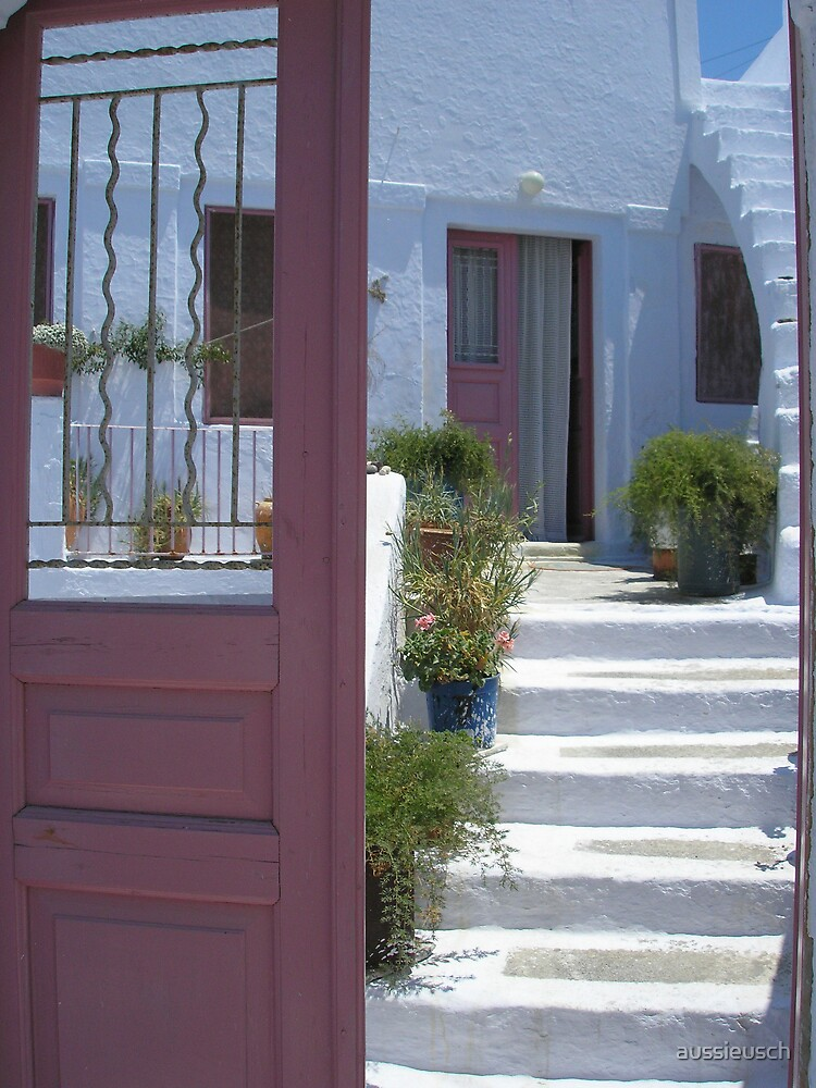 The pink door by aussieusch