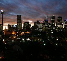 Sydney City At Dusk by Mikey45