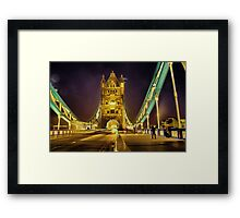Tower Bridge at night  Framed Print