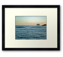 Location, Location, Location!  Stick House on The Ocean Framed Print