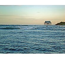 Location, Location, Location!  Stick House on The Ocean Photographic Print