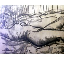 Anne 1969 Reclining Nude Photographic Print