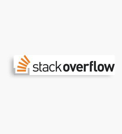 Stackoverflow Canvas Print