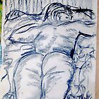 Anne 1969 Sleeping on stomach. by Raymond  Hedley