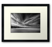 Donegal Beach in Black and White Framed Print
