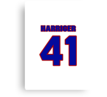 National baseball player Denny Harriger jersey 41 Canvas Print