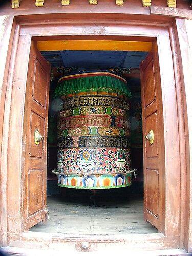 Large Prayer Wheel by Sarah Jones