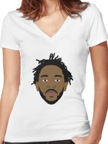 Kendrick Lamar good kid mad city Women's Fitted V-Neck T-Shirt