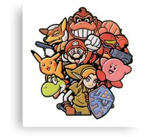 Super Smash Bros 64 Japan Characters Canvas Print