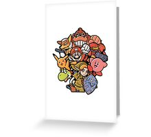 Super Smash Bros 64 Japan Characters Greeting Card